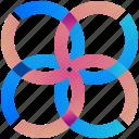 circular, logogram, creative, design, logo, shape