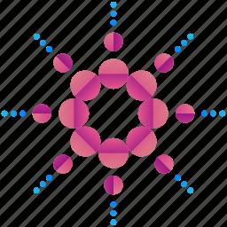 circle, circles, design, dots, logo, logogram, shape icon