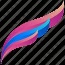 feather, creative, design, logo, logogram, shape
