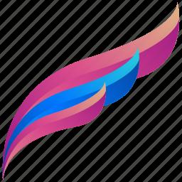 creative, design, feather, logo, logogram, shape icon