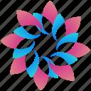 floral, logogram, creative, design, logo, shape icon
