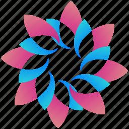 creative, design, floral, logo, logogram, shape icon