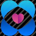 heart, creative, design, logogram, shape