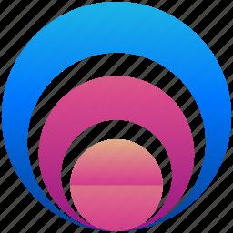 circles, creative, design, logo, logogram, shape icon