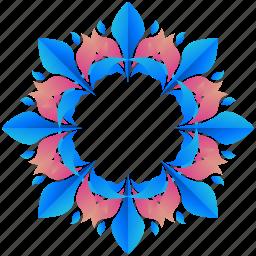 creative, design, floral, flower, logo, logogram, shape icon