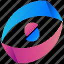 logogram, circle, creative, design, half, logo, shape