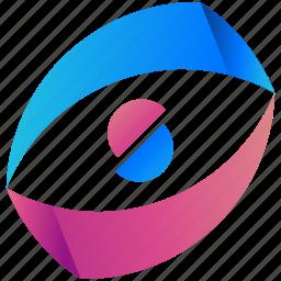 circle, creative, design, half, logo, logogram, shape icon