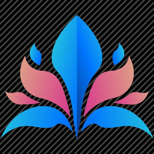 creative, design, floral, logo, logogram, lotus, shape icon