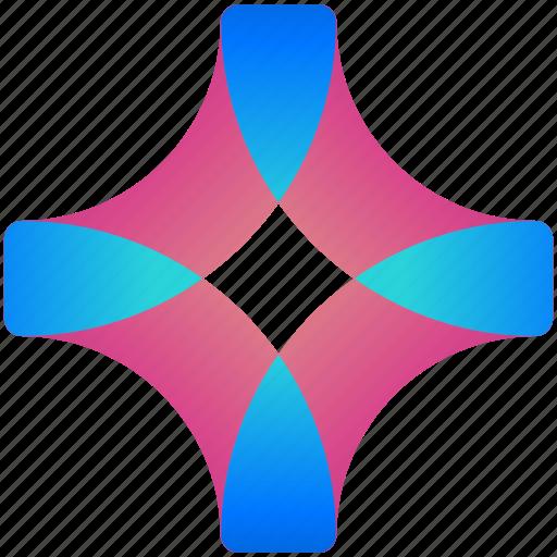 creative, design, logo, logogram, plus, shape icon