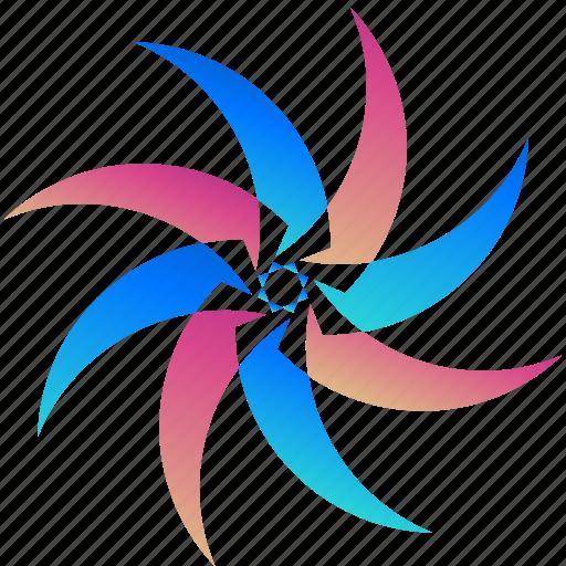 creative, design, logo, logogram, shape, windmill icon