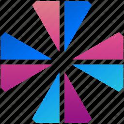 creative, design, leaf, logo, logogram, shape, target icon