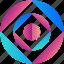 circle, creative, design, logo, logogram, shape icon