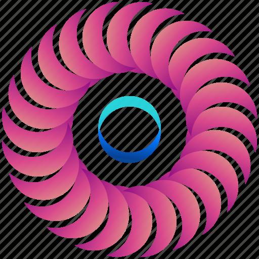 creative, crescent, design, logo, logogram, moons, shape icon