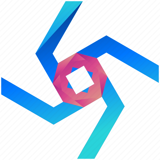 creative, design, logo, logogram, shape, van, windmill icon