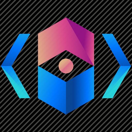 creative, design, logo, shape icon
