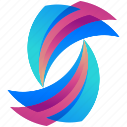 creative, design, logo, logogram, shape, waves icon