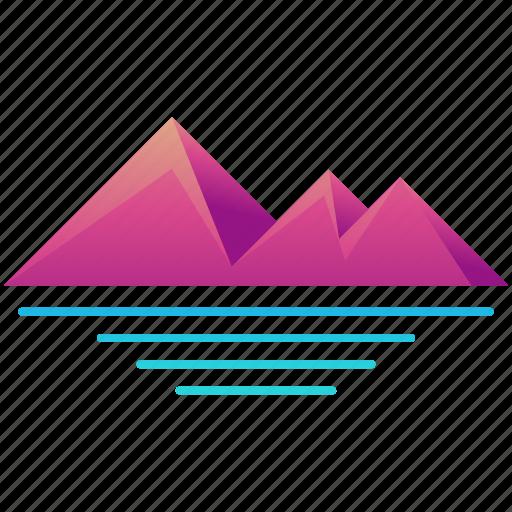 creative, design, logo, pyramids, shape icon