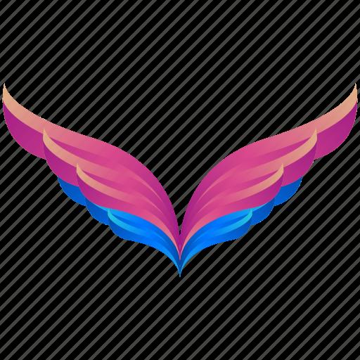 creative, design, logo, logogram, nature, shape, wings icon
