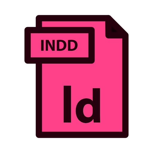 file, indd, indesign, type icon