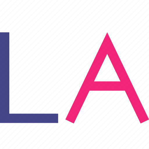 angeles, los, name, sign icon