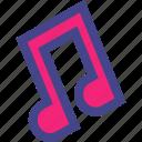 compose, listen, music, note icon