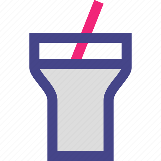 cup, drink, straw, water icon