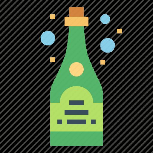 beverage, bottle, champagne, drinks icon