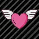 angel, heart, wing, wings