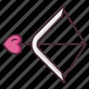 arrow, bow, heart, love