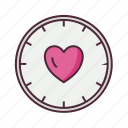 clock, love, time, timer icon