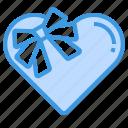 gift, box, heart, present, love, valentine
