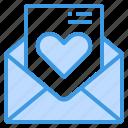 love, letter, valentine, envelope, wedding