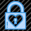 padlock, heart, love, key, lock