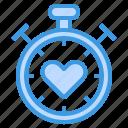stopwatch, heart, love, wait, timer