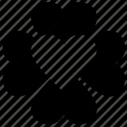 design, flower, heart, love, pattern icon