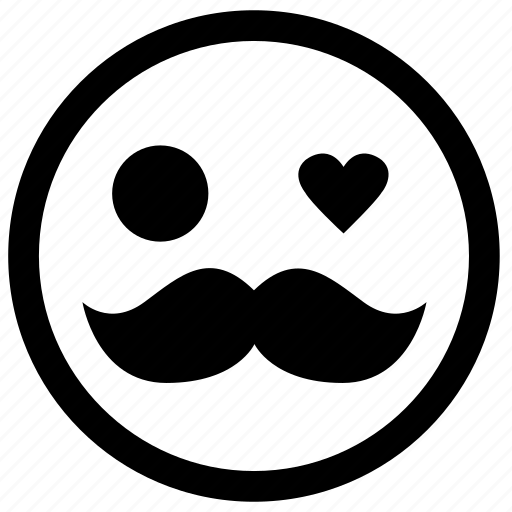 brand, character, emoticon, face, man, moustache icon