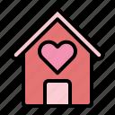 love, home, heart, house, building, valentine, estate