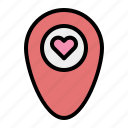 love, location, map, heart, pin, navigation, valentine