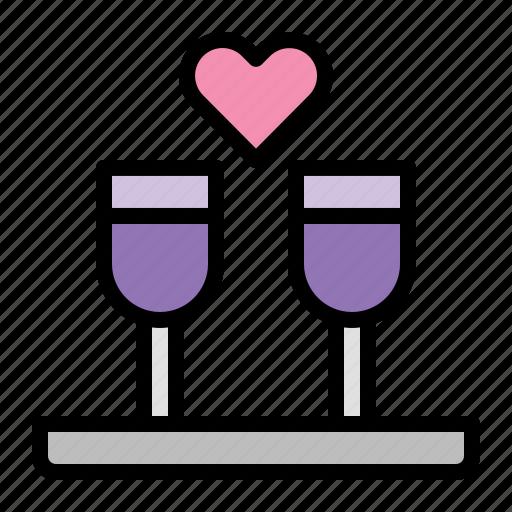 Love, wine, heart, valentine, romance, wedding icon - Download on Iconfinder
