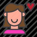 woman, love, heart, valentine