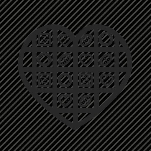 box, candies, gift, heart, love, romantic, valentine icon