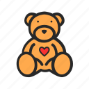 bear, day, love, romantic, teddy, valentine icon