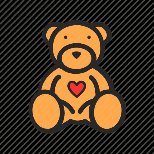 bear, day, love, romantic, teddy, valentine icon