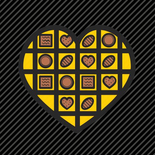 box, candies, day, love, present, romantic, valentine icon
