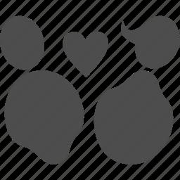 family, heart, love, profile, user icon