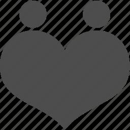 account, family, heart, love, user icon