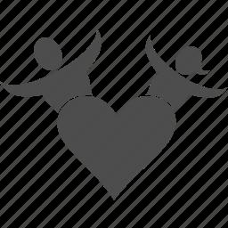 family, heart, love, user icon