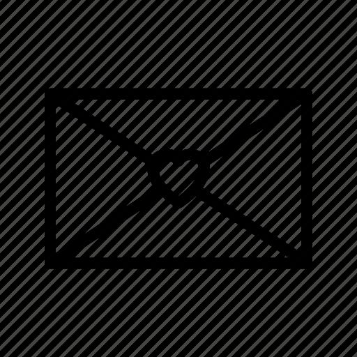 envelope, good news, heart, letter, love, message, news icon