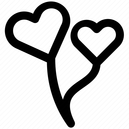 ballons, love, romantic, valentine icon