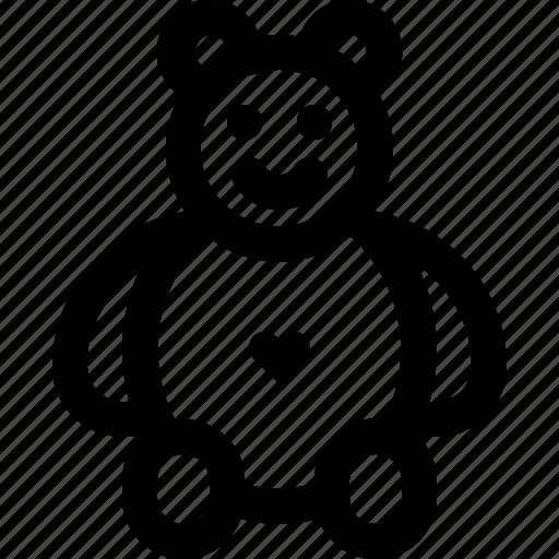 bear, love, romantic, teddy, valentine icon